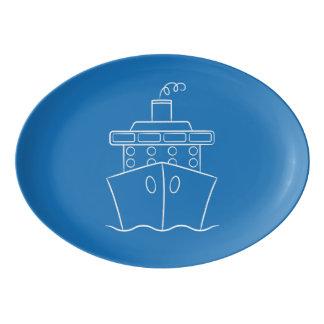 Kreuzschiff Porzellan Servierplatte