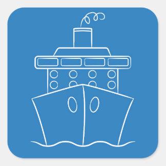 Kreuzschiff Quadratischer Aufkleber