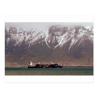 KREUZSCHIFFE um SCHNEE-BERGE Amerika Postkarte