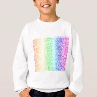 Kreuzschraffieren-Regenbogen Sweatshirt