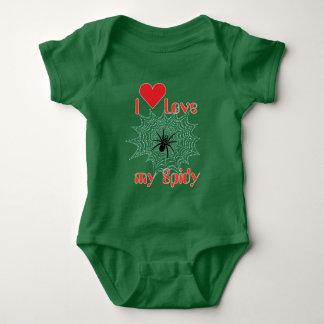 Kreuzspinne im Netz Baby Body Baby Strampler