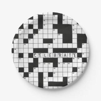 Kreuzworträtsel für Feier Pappteller