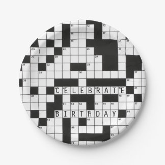 Kreuzworträtsel für Geburtstagsfeier Pappteller
