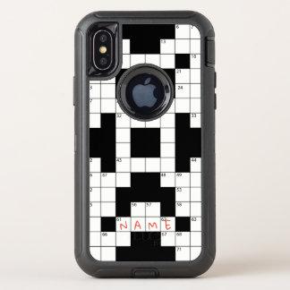 Kreuzworträtsel-Telefonkasten, addieren Namen des OtterBox Defender iPhone X Hülle