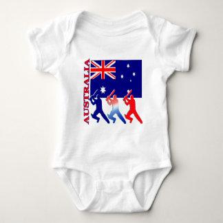 Kricket Australien Baby Strampler
