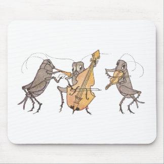 Kricket-Band mit Horn, Cello u. Violine Mauspad