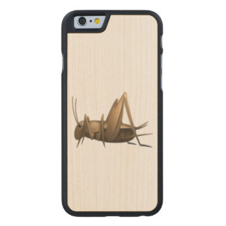 Kricket - Emoji Carved® iPhone 6 Hülle Ahorn
