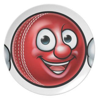 Kricketball-Maskottchen Teller