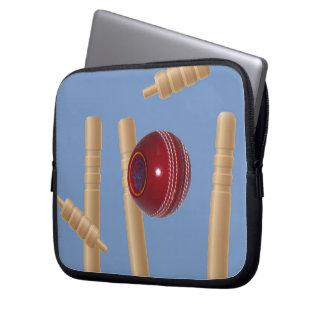 Kricketball und Stümpfe, Laptopschutzhülle