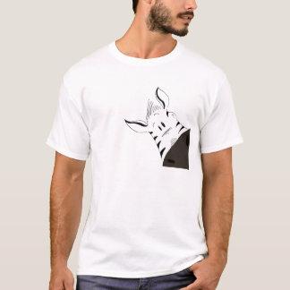 Kriechen durch den Dschungel: Giraffe der Zebra T-Shirt