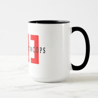 Kriechen mit Polizisten - zwei tonen Kaffee-Tasse Tasse