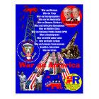 Krieg auf Amerika - Postkarte