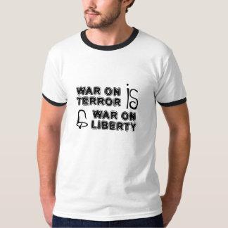 Krieg auf Terror ist Krieg auf Freiheitsweiß-Shirt T-Shirt