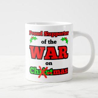 """""""Krieg auf Weihnachten"""" riesige WeihnachtsTasse Jumbo-Tasse"""