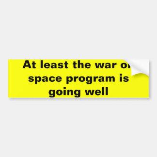 Krieg auf Weltraumprogramm Autoaufkleber