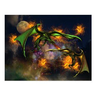 Krieg der Drachen Postkarte