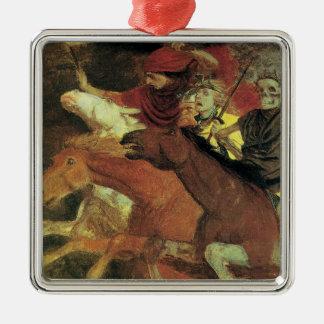 Krieg durch Arnold Bocklin, Vintager Silbernes Ornament