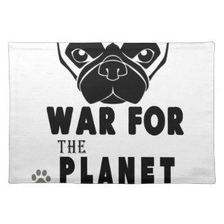 Krieg für Planeten des coolen Hundes der Möpse Stofftischset