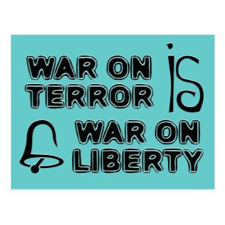 Krieg gegen den Terror ist Krieg auf Freiheit Postkarte