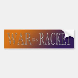 Krieg ist ein Schläger - Antikrieg - orange Lila Autoaufkleber
