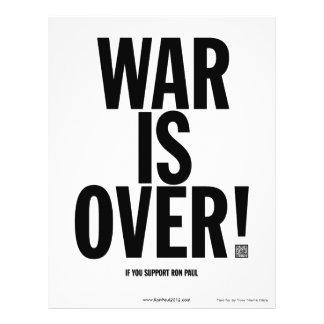 Krieg ist über Ron Paul Flyer