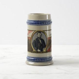 Krieg Stein Ulysses S. Grant Civil Bierglas
