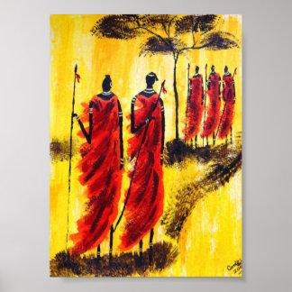 Krieger Afrika Poster