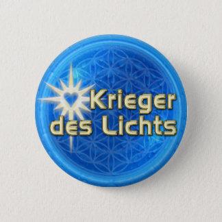 KRIEGER DES LICHTS | Blume des Lebens Runder Button 5,7 Cm