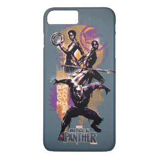 Krieger des schwarzen Panther-  Wakandan grafisch iPhone 8 Plus/7 Plus Hülle