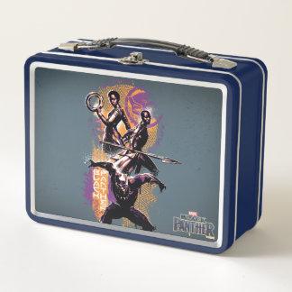 Krieger des schwarzen Panther-| Wakandan grafisch Metall Lunch Box