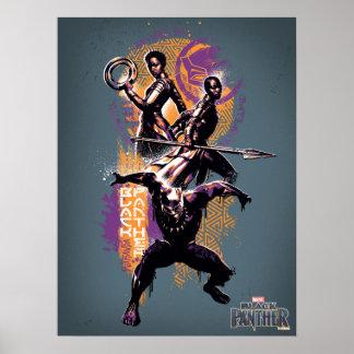 Krieger des schwarzen Panther-| Wakandan grafisch Poster