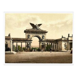 Krieger Monument, Thor, Cassel Allee, Cassel Postkarte