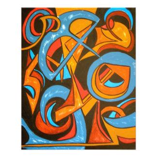 Kriegereiner Yogi - abstrakte Kunst 11,4 X 14,2 Cm Flyer