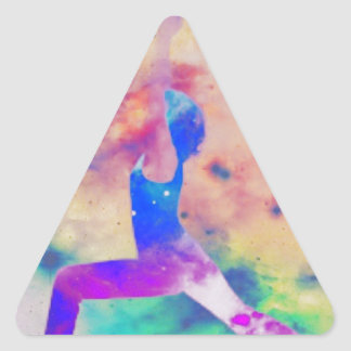 Kriegers-Göttin-Yoga-Reihe Dreieckiger Aufkleber