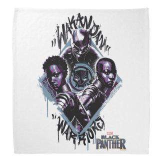 Kriegers-Graffiti des schwarzen Panther-| Wakandan Kopftuch