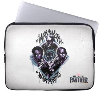 Kriegers-Graffiti des schwarzen Panther-| Wakandan Laptopschutzhülle