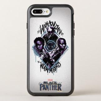 Kriegers-Graffiti des schwarzen Panther-  Wakandan OtterBox Symmetry iPhone 8 Plus/7 Plus Hülle