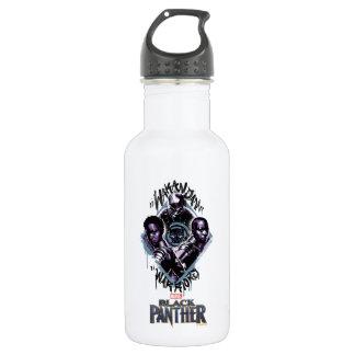 Kriegers-Graffiti des schwarzen Panther-| Wakandan Trinkflasche