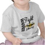 Kriegers-Kampf-starker Kindheits-Krebs T-shirt