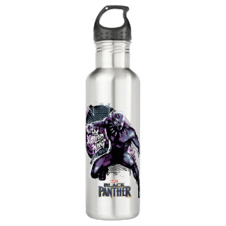 Kriegers-König Painted Graphic des schwarzen Trinkflasche