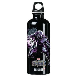 Kriegers-König Painted Graphic des schwarzen Wasserflasche