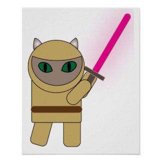 Kriegers-Miezekatze-Katze Poster