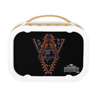 Kriegers-Stammes- Platte des schwarzen Panther-| Brotdose