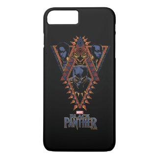 Kriegers-Stammes- Platte des schwarzen Panther-  iPhone 8 Plus/7 Plus Hülle