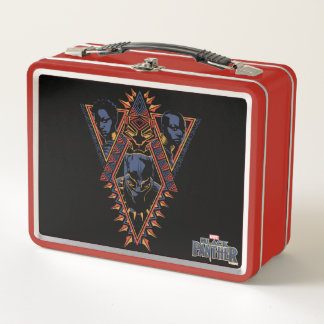 Kriegers-Stammes- Platte des schwarzen Panther-| Metall Lunch Box