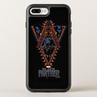 Kriegers-Stammes- Platte des schwarzen Panther-  OtterBox Symmetry iPhone 8 Plus/7 Plus Hülle