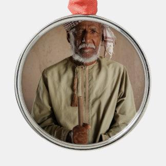 Kriegers-Telefon-Kasten von Oman Rundes Silberfarbenes Ornament