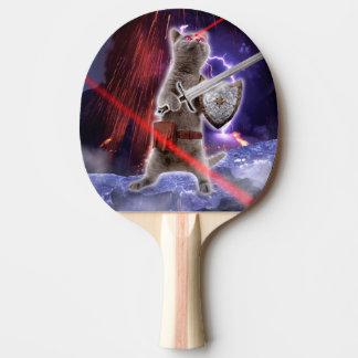 Kriegerskatzen - Ritterkatze - Katzenlaser Tischtennis Schläger