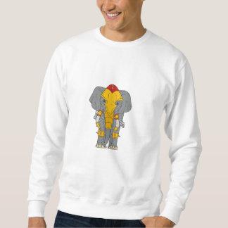 Kriegs-Elefant-Zeichnen Sweatshirt