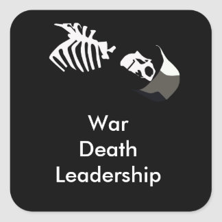 Kriegs-Protest Quadratischer Aufkleber